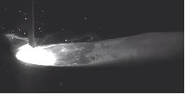 マグ溶接の溶融池観察